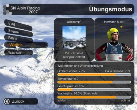 Горные лыжи: Альпийский сезон 2007 / Alpine Ski Racing 2007 (2007/RUS/PC)